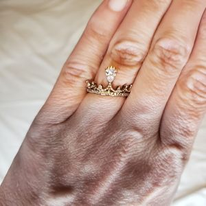 Crown ring gold color. Charmed aroma ring